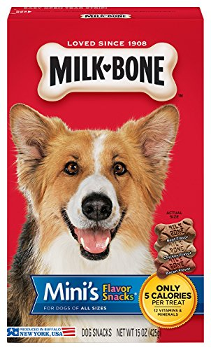 Milk-Bone Mini'S Flavor Snacks Dog Treats, 15-Ounce (Pack Of 6) - Milk Bone Original Biscuits