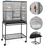 Giantex Bird Parrot Cage Chinchilla Cockatiel Conure Large W/stand Overall 32''x18''x64''