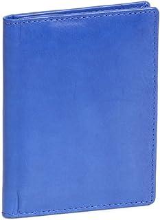 LEAS Ausweis- und Kreditkartenhülle Echt-Leder, hellblau Card-Collection