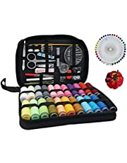 Sewing Kit, Portable Professional Travel Sewing Set for Adult, Sewing Accessories Needle, Thread, Ripper, Buttons, Thimble for DIY/Emergency/Beginner