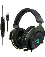 Cuffie Gaming per PC, Supsoo G817 Cuffie da Gioco Over-ear Cuffie cablate USB con Microfono Stereo Bass Volume