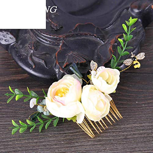 Wholesale Dropship Costumes Jewelry - Rose Flower Hair Combs Wedding Party