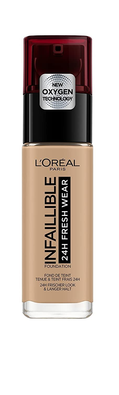 LOreal Paris Infallible 24hr Freshwear Liquid Foundation 125 Natural Rose 30ml L/' Oreal 3600523614516