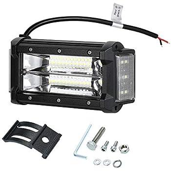 "4X 4Inch 27W Cube Led Work Light Bar SPOT Beam Offroad Driving Fog Lamp 6/""5/"""