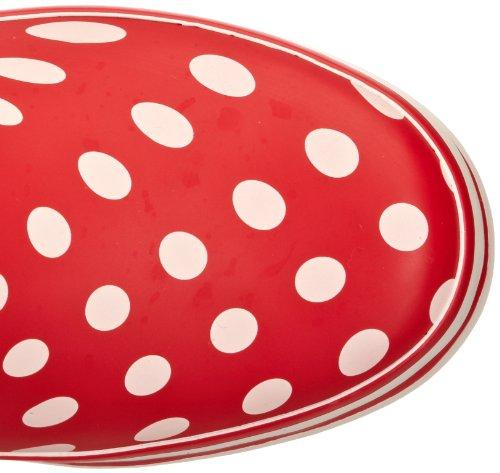 Evercreatures Polka Dot Tall - Botas de agua, color rojo rojo - Red/White Polka Dots