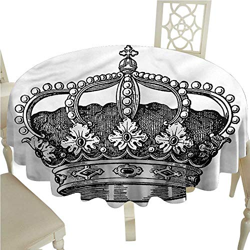 - crabee Table Cloth Printed Queen,Antique Royal Monarch,for Wedding Reception Nave Blue