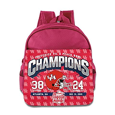 HOUSTON COUGARS RED 2015 PEACH BOWL CHAMPIONS Kids School Backpack Bag Pink - Fiesta Nuts