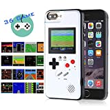 Gameboy iPhone Case Handheld Game Console Case Protective Cover, AISALL Gameboy Phone Case for iPhone 6/7/8 Plus iPhone X XR XS Max with 36 Classic Retro Games & Full Color (White, iPhone 6/7/8 Plus)