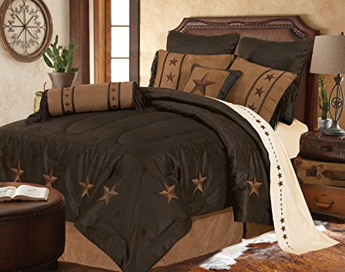 HiEnd Accents Laredo Chocolate Western Bedding, King