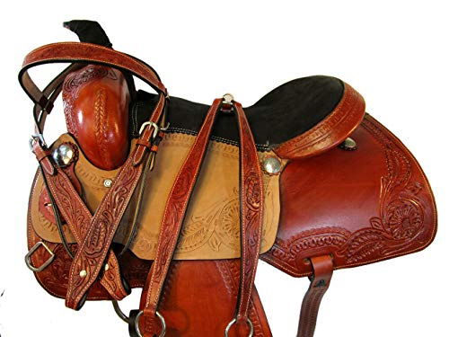 15 16 ROIPNG Roper Ranch Pleasure Cowgirl Trail Leather for sale  Delivered anywhere in Canada