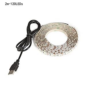 WIM Led Strip Waterproof Led Light Strip Tv Led Usb Led Wedding Decoration Led Tv Backlight, 60Leds/M, DC-5V, White/Warm White/Blue/Green/Red,1M/2M (2