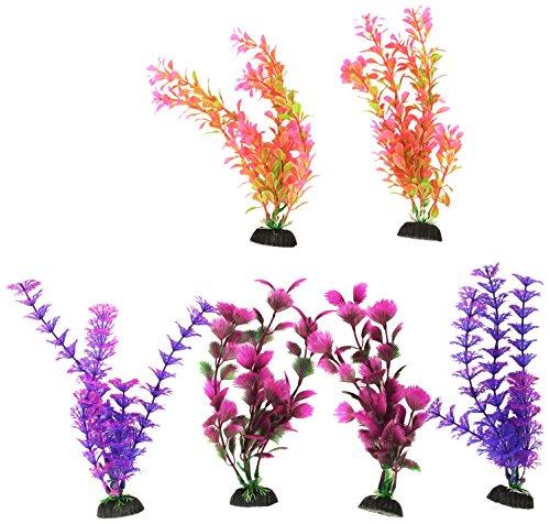 Penn Plax Colorful Aquarium Plastic Plant Pack, ()