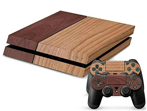 mod-freakz-console-and-controller-vinyl-skin-set-light-dark-oak-wood-grain-for-playstation-4