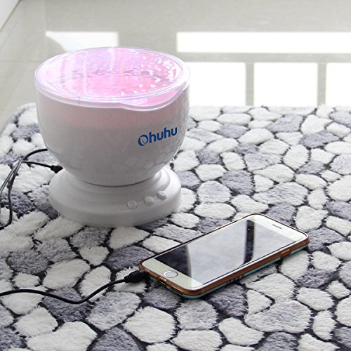 Ohuhu Ocean Wave Night Light Projector And Music Player 8