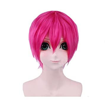 Amazon Com Gowther Wig Cosplay Seven Deadly Sins Costume Pink Short
