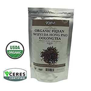 Dodjivi Oolong Tea, Organic Loose Leaf Tea Bulk – Wuyi Mountain Da Hong Pao Chinese Tea – Pemium Full Leaf Tea - 100g per Tea Pack