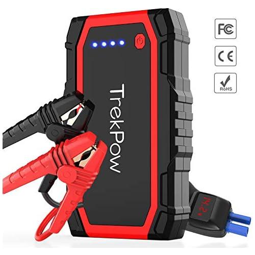 chollos oferta descuentos barato TrekPow A18 Arrancador de Coches 800A Jump Starter con Pinzas Inteligentes Banco de Baterías con USB QC3 0 Tipo C Diseñado para 12V 6L Diésel y 5L Gasolina
