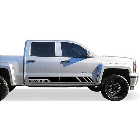 Bubbles Designs Decal Sticker Side Stripes Set For Chevrolet Silverado 2014 2017