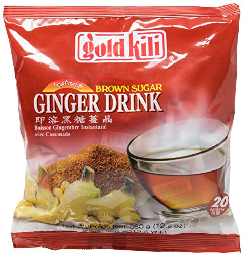 (Gold Kili Ginger Drink with Brown Sugar - 40 Sachets Packed in 2 Bags )