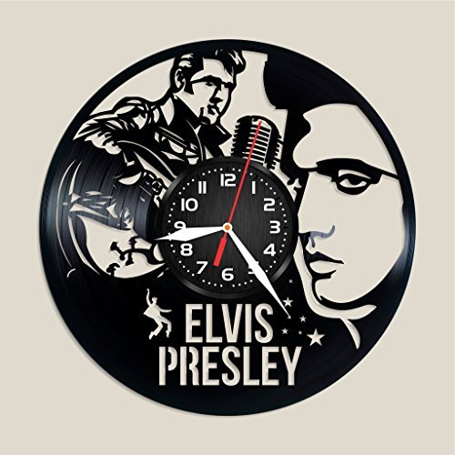 Elvis Presley Vinyl Wall Clock, Elvis Presley Home Decor, Elvis Presley Wall Art, Elvis Presley Nice Gift idea for Any Occasion