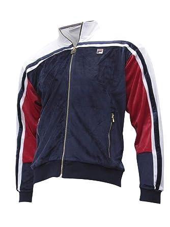 b9edc0023801 Fila Vintage Men's Lamar Archive Velour Track Jacket at Amazon Men's  Clothing store:
