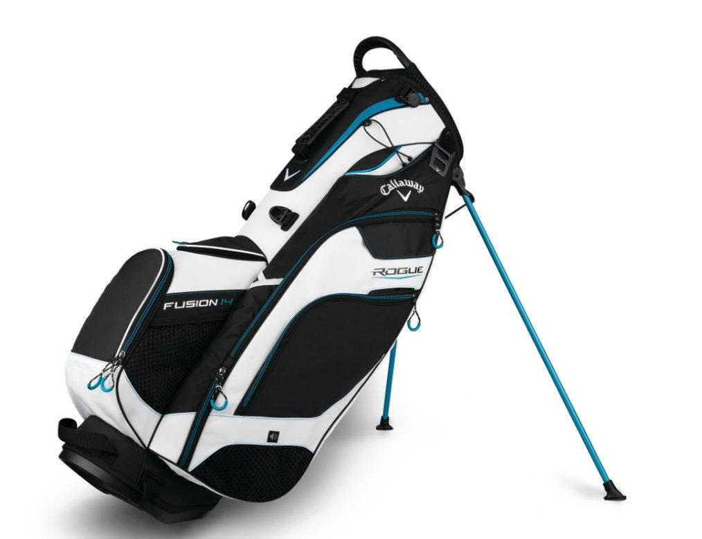 Callaway Golf Rogue Fusion Stand Bag, Black/White