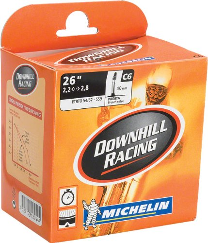 "Michelin Aircomp DH 26"" x 2.2 2.8"" 40mm Presta Valve Tube"
