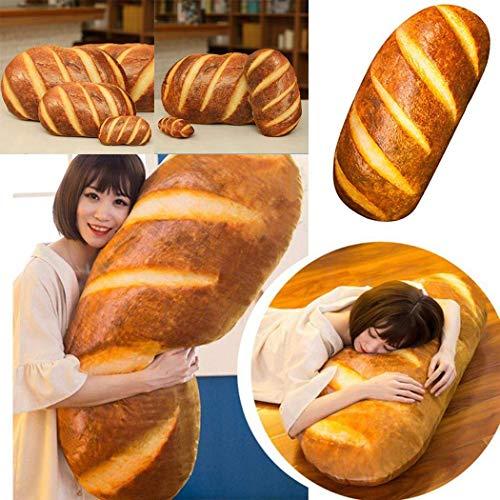 Heartbeat 3D Prints Butter Bread Shape Pillow, Soft Lumbar Back Cushion Plush Stuffed Toys for Home Decor, 23.6in