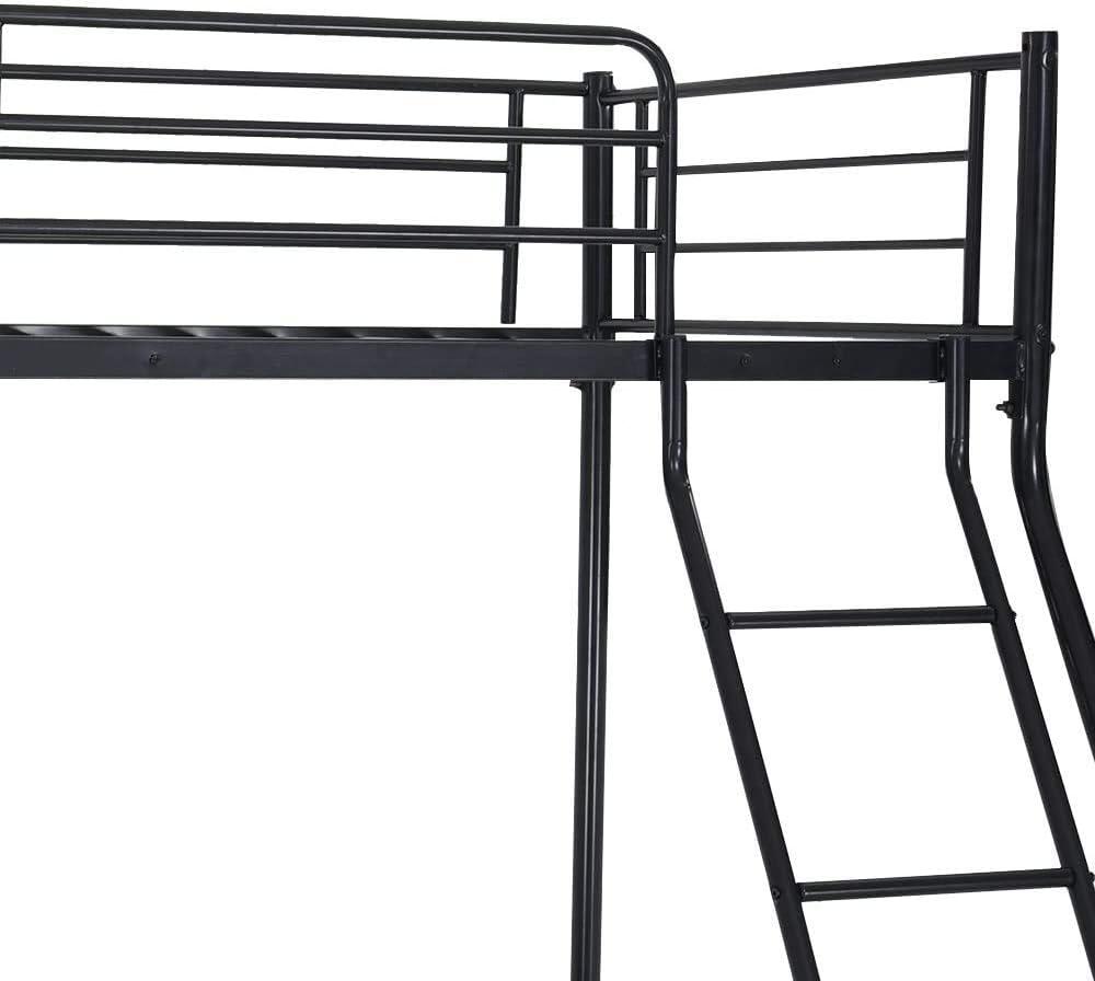 4FT6 superpos/és 3FT cadre de lit m/étallique unique,Black