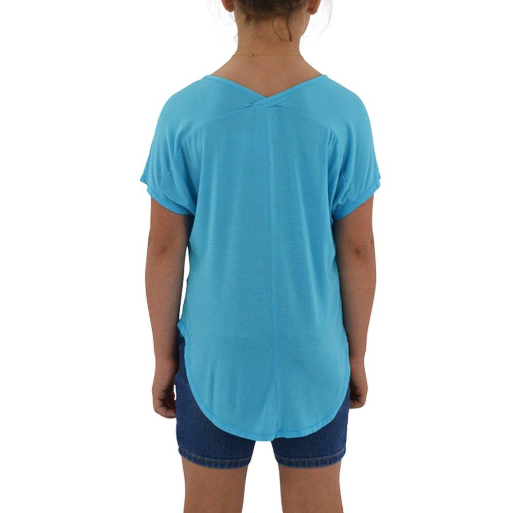 Weekend Vibes Tween Girls Vee Tee Tunic in Light Blue