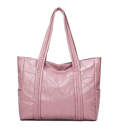 Impermeable Mediana Edad Nuevo Package Bolso Gran Negro Bolso Meaeo Madre Pink De Capacidad Bolsa TZPY0qx