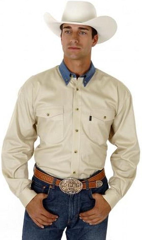 Contrasting Collar Western Shirt