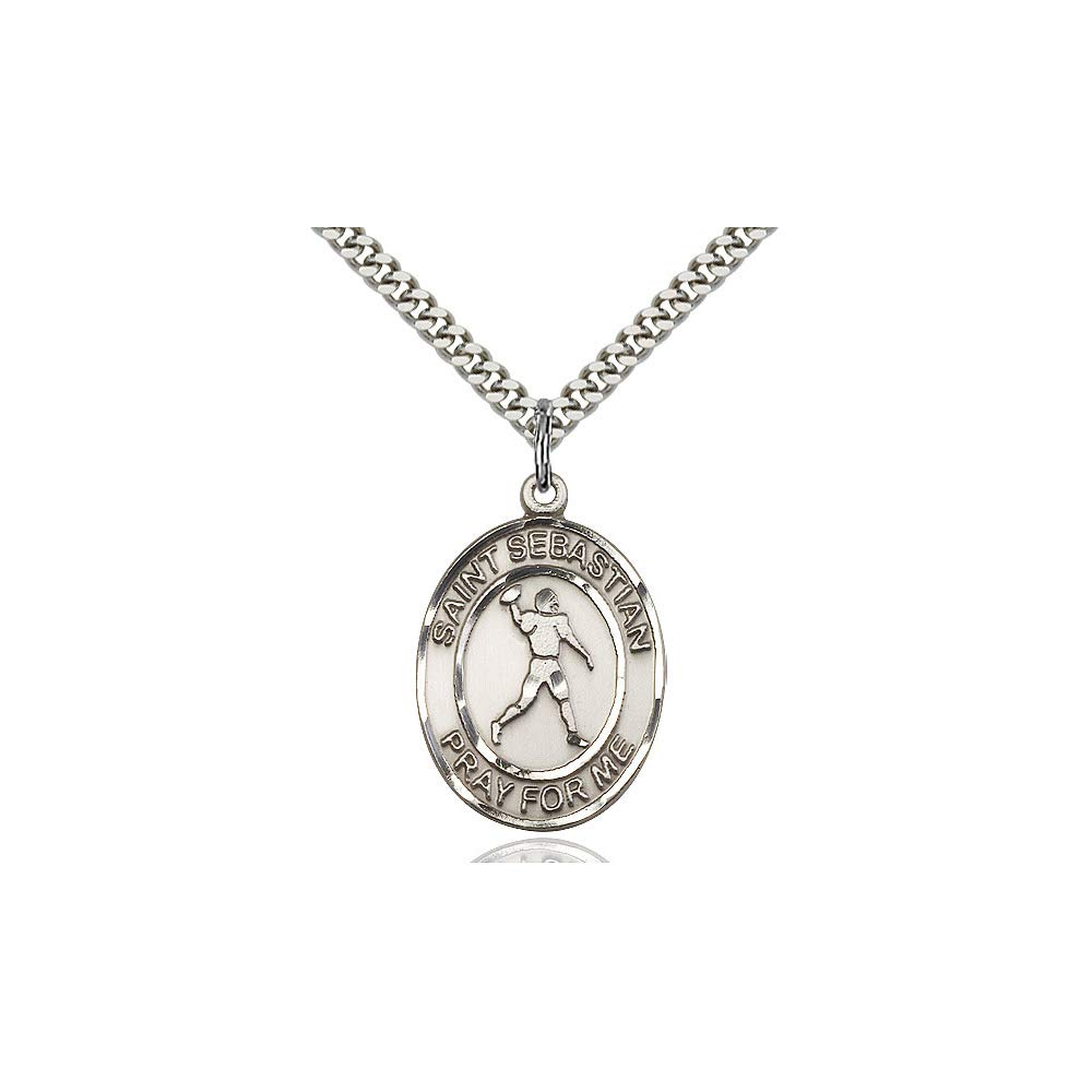 DiamondJewelryNY Sterling Silver St Sebastian Pendant