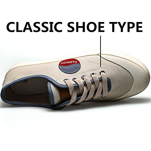 Cachi Comode Tela Classiche Basse Scarpe Sneakers Traspiranti Cachi Uomo da Sneakers x7AvUP