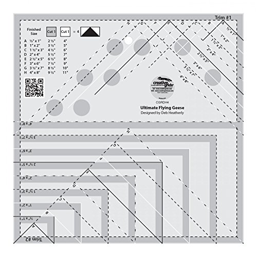 (Creative Grids Ultimate Flying Geese Template and Quilt Ruler [CGRDH4])