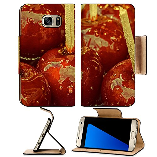 Luxlady Premium Samsung Galaxy S7 EDGE Flip Pu Leather Wallet Case IMAGE ID: 34405955 Candy apples covered with glaze for sale at a street fair Vintage - Java Bites