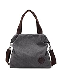 Simple Style Women's Handbag Canvas Shoulder Crossbody Bag Hobo Purse Large Casual Bag