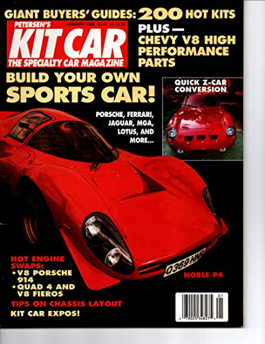 PETERSEN'S KIT CAR - THE SPECIALTY CAR MAGAZINE January 1992 (Cars, Automobiles, Chevy V8 High Performance Parts, Sports Car, Quad 4 and V8 Fieros, Quick Z-car Conversion)