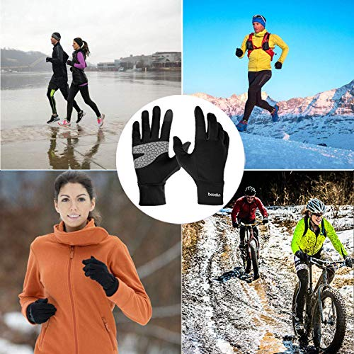 Touch Screen Sports Gloves for Men Women, Unisex Cold Weather Windproof Cycling Gloves Anti-Skid for Cycling, Running, Climbing