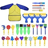 YallFairy Washable Paint Brushes Set for Toddler Kids Early Learning Toys Finger Paints
