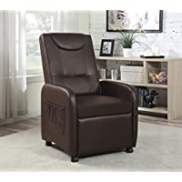 HODEDAH IMPORT HIR610 Brown Single Recliner Chair