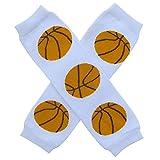 Super Sports Star - Leg Warmers - One Size - Baby, Toddler, Boy, Girl (Triple Threat Basketball)