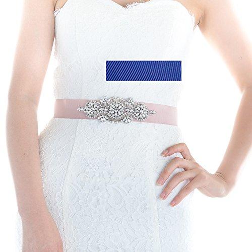 Top Queen Women's Diamonds Bridal Belt Sash Crystals Wedd...