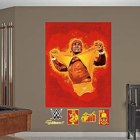 WWE Hulk Hogan Illustrated Mural Fathead Wall Decals Amazoncouk