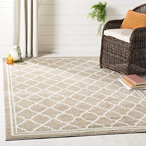 Pottery Barn Outdoor Rugs - Safavieh AMT422S-6 Amherst Collection Wheat and Beige Area Rug, 6' x 9',