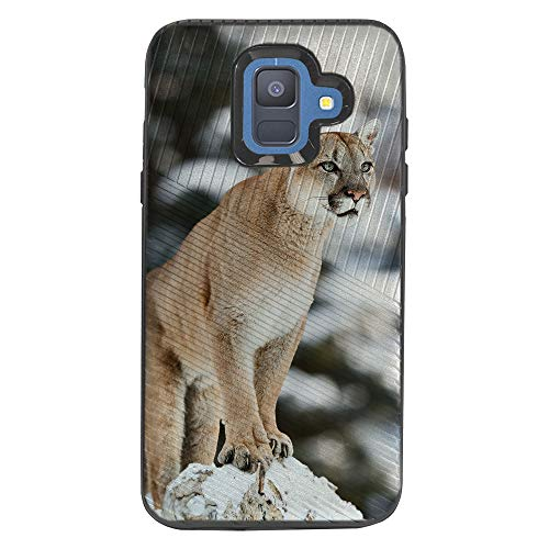 TurtleArmor   Compatible with Samsung Galaxy A6 Case (2018)   A600   Engraved Grooves Shell Shockproof Hybrid Fitted TPU Case Animal Design - Mountain ()