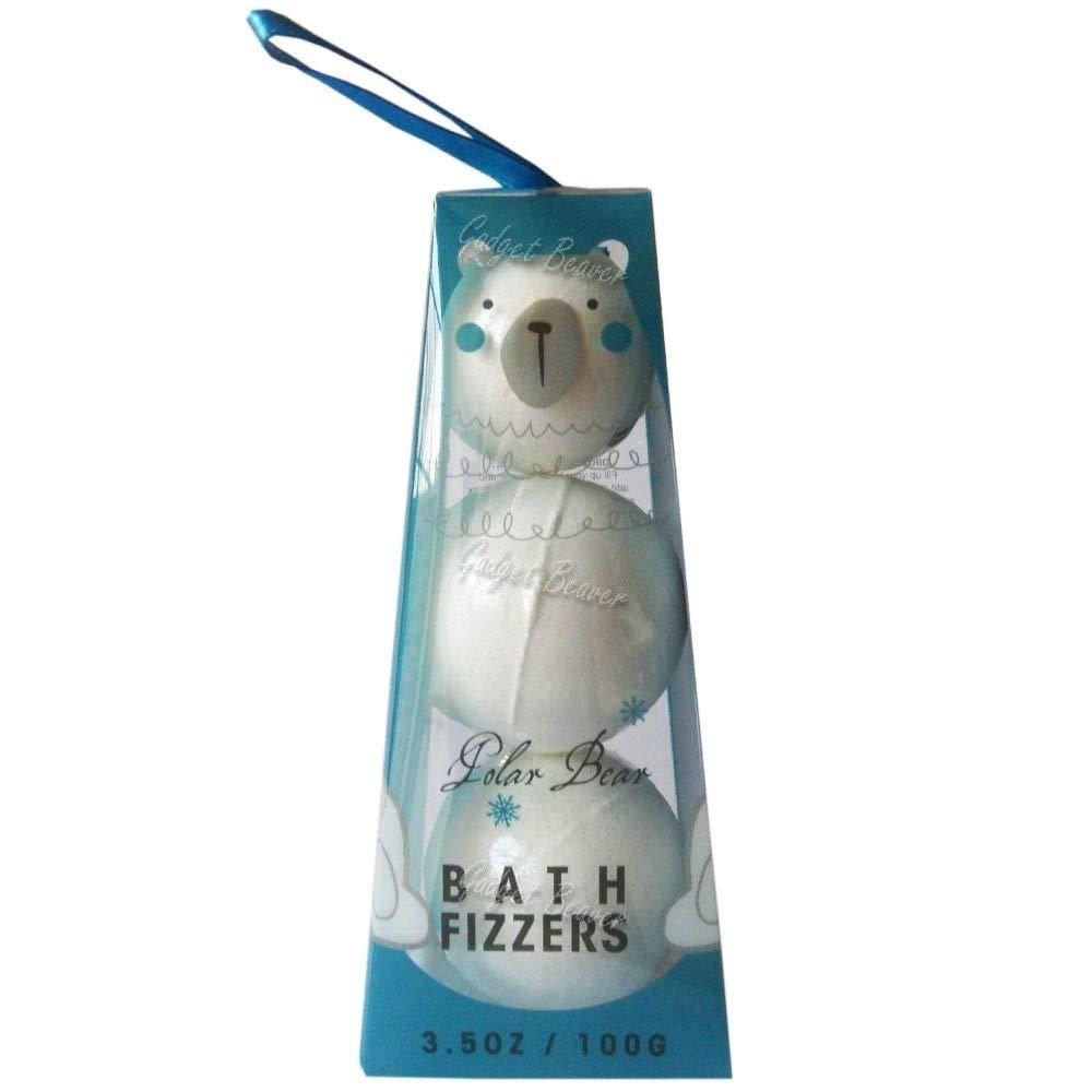 Festive Bath Bomb Trio Snowman/Gingerbread Man/Polar Bear Fizzers 100g (Snowman) Bath Fizzers