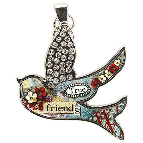Gold Bird Charm Pendant (Santa Barbara Design Studio Bird Shaped Jewelry Charm by Artist Sally Jean,)