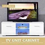 TV Entertainment Center Console High Gloss TV Stand Unit Cabinet Furniture White