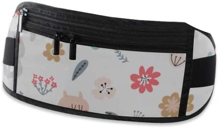 Travel Waist Pack,travel Pocket With Adjustable Belt Cute Foxes Rabbits Flowers Running Lumbar Pack For Travel Outdoor Sports Walking